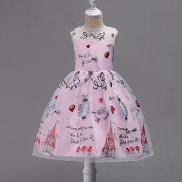 Wholesale Tutu Skirts Dhl - Kids Clothing Flower Girl Dress Ball Gown Sleeve Spring Summer Princess Hign Quality Children Tutu Skirt DHL EMS