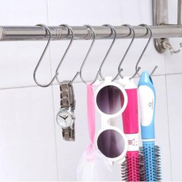 Wholesale Wholesale Metal Clothes Racks - 7cm S Hanging Hanger Rack Holder Stainless Steel Hook Stainless Steel Hooks S Hanging Hanger CCA7985 500pcs