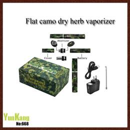 Wholesale Electronic Cigarette Flat - Clone Flat e cigar epipe camo vaporizer dry herb vaporizer from vaporzone wax burner electronic cigarette