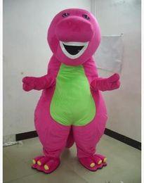 Wholesale Adult Barney Mascot - 2018 Factory direct sale Profession Barney Dinosaur Mascot Costumes Halloween Cartoon Adult Size Fancy Dress