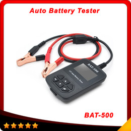 Wholesale Battery Trains - BAT-500 BAT500 12V Auto Battery Tester BAT500 Automotive Electrical Battery Analyser For Car Train  Bicycles DHL free