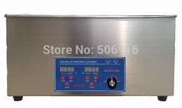 Wholesale Ultrasonic Heater - Free ship Brand new 22L Ultrasonic cleaner Timer Heater Stainless Digital power adjustable