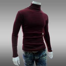 Wholesale quality outerwear - Men's Casual Fashion Sweater Mens Hight Quality Knit Sweater Knit Turtleneck Collar Outerwear