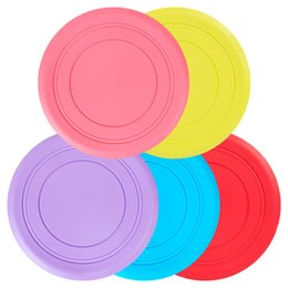 Wholesale Red Frisbees - Soft Flying Flexible Disc Tooth Resistant Outdoor Large Dog Puppy Pets Training Fetch Toy Silicone Dog Frisbee Dog Toys