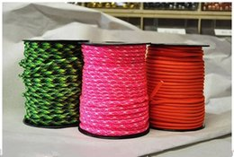Wholesale Wall Rock - 328Ft(100m)  bag new 550 Paracord Parachute Cord Lanyard Rope survival rope Mil Spec Type III 7 core strand 50 colors