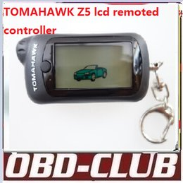 Wholesale Demo Case - 2016 Newest Original Two way car alarm system Tomahawk Z5 remote controller keychain case cover Free shipping