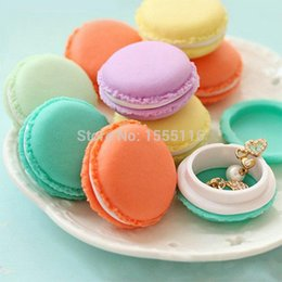 Wholesale Cute Boxes For Jewelry - Mini Cute Macaron Storage Box Bin Candy Color Organizer for Jewelry Gift Novelty households storage bag