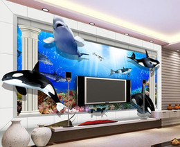 Wholesale Underwater Wallpaper Murals - Papel de parede Underwater World 3d stereoscopic non-woven wallpaper new large murals costomize size 2015257