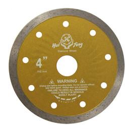 Wholesale Ceramics Stone Tiles - 110MM Super Thin Continuous Rim Diamond Blade Saw Wet Cutting Tools for Ceramic Tiles Quartz Stone