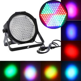 Wholesale Dmx 127 - AC 90-240V 127 RGB LED Effect Light DMX512 7CH Par Lights DMX 512 Disco DJ Party Stage Light H9409