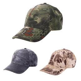 Wholesale Camouflage Hunting Hat - Wholesale-Military Tactical Cap Bionic Camouflage Sun Hat Men Women Baseball Cap Outdoor Hunting Camping Hiking Cycling Peaked Cap