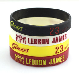 Wholesale Customize Rubber Bracelets - Fans Favorite Basketball King Lebron James Signed Silicone Bracelet Customized Rubber Sports Band Eco-friendly Hologram Bracelet