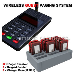 Wholesale Call Services - Y-P801 Wireless Guest Paging System Restaurant Calling System w 12pcs Pager Receiver Bar Pager Slef-service Restaurant Queue system