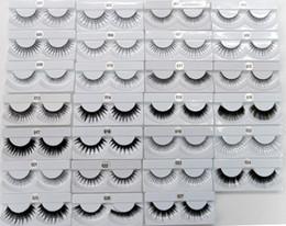 Wholesale perfect eyelashes - Hot False Eyelashes Handmade Natural Fashion Perfect Long Thick Eyelash Fake Eye Lash extensions Black Terrier Full Strip Lashes 5Pairs set