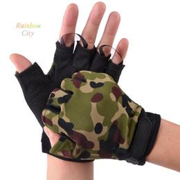 Wholesale Resistance Wear - Wholesale-New Men Half-Fingers Cosplay anti-skidding wear Resistance Gloves