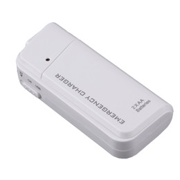 Wholesale Emergency Portable Aa Battery Charger - Universal Portable White USB Emergency 2 AA Batteries Extender Charger Power Bank For Mobile Phone iPhone MP3 MP4