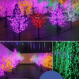 2019 fiore m Bella LED Cherry Blossom Christmas Tree Lighting P65 Impermeabile decorazione del paesaggio del giardino Lampada per la festa nuziale Forniture natalizie sconti fiore m