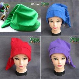 Wholesale Zelda Cap - 30pcs legend of zelda link hat cosplay costumes play cap zelda hat christmas hat