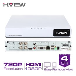 Wholesale Digital Video Recorder Ch - H.View 4 CH Hybrid AHD CCTV DVRH.264 4 Channel 720P Digital Video Recorder HDMI Video Output Support iPhone Android Phone No HDD