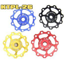 Wholesale Cnc Bike Wheels - KTPL-26 1pcs Mountain Road Bike Bearing Jockey Wheel 11T CNC 7075 Aluminum Rear Derailleur Idler Pulley Guide Roller Bicycle Parts 5 Colors