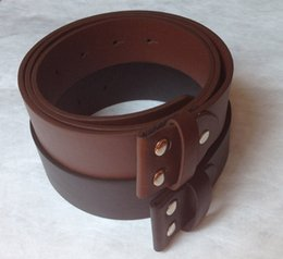"Wholesale Screws Belts - 1.5""PU Leather Belt Brown and Black Screw On Belt 115-120CM Free Shipping"