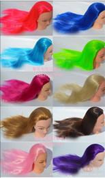 La mejor cabeza de maniquí para trenzar el cabello ejercita la cabeza fantástica de maniquí para los ejercicios de la peluca que enrolla diez colores son opcionales de alta calidad desde fabricantes