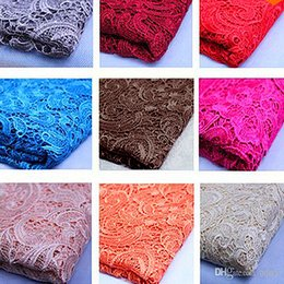 Wholesale Soluble Lace - Hot ! Free Shipping New 2015 Tops High Quality 24 Color Water Soluble 3D African Lace Venice Lace Fabrics   Wedding Dress Fabrics