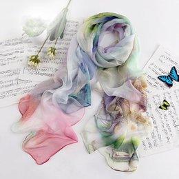 Wholesale Digital Print Silk Pashmina Scarf - Free shipping!2015 New Brand 180cm*113cm Scarf silk georgette Scarf Pashmina Shawls Digital Printing Girls Women Scarves LM1019