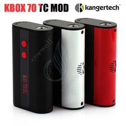 Кbox батареи онлайн-Аутентичные Kangertech Kbox 70 TC Mod Контроль температуры Kanger 70 Вт 4000 мАч Встроенный аккумулятор Micro USB 510 120 Вт 200 Вт Vapor Box Модов