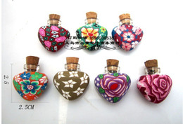 Wholesale Clay Perfume Bottles - Wholesale-Free Shipping 2ml glass bottle with cork soft clay glass bottle Essential oil perfume bottle Mini Aroma Vial with cork