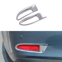Wholesale Car Exterior Decoration Accessories - 1 Pair ABS Chrome Styling Rear Tail Fog Light Decoration Cover Car Exterior Accessories For Mazda 6 Atenza 2013 2014 2015