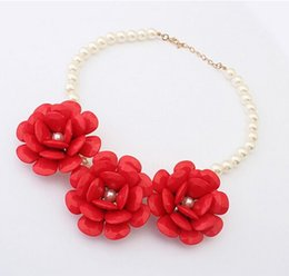 Wholesale Flower Girl Jewelry - New Fashion Flower Children Necklace Girls Kids Gift jewelry Many Colors for choose