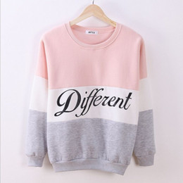 2019 tuta spesso La maglia all'ingrosso-lettera ha stampato il pullover delle donne della maglietta del maglione della camicetta delle camicie delle tute spesse Sudaderas tuta spesso economici