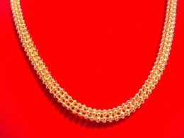 """Wholesale 18k Ct Chain - 18K CT Gold Filled Men's woman Rhombus 50cm Lenght Heavy Chain Necklace globule """"XP"""""""