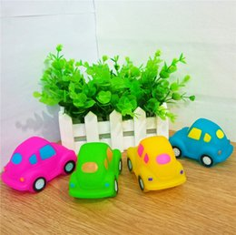 Wholesale Hot Pink Sand - HOT Sale MINI Cars Rubber Baby Bath Water Toys Safety Sounds Color Kids Swiming Beach Gifts Sand Play Water Fun Kids Toys SK584