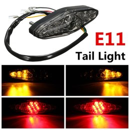 Wholesale Led Rear Turning Motorcycle Light - Wholesale- 15 LED Rear Tail Brake Stop Running Turn Signal Light 12V 2W ATV Motorcycle