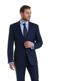 Wholesale Cheap Wool Pants - Cheap Custom Made Men Suit Groomsmen Two Buttons Bestmen Groom Tuxedos Prom Party Formal Suits Business Men Wear(Jacket+Pants) New Arrival
