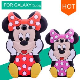 Wholesale Galaxy Grand Duos 3d Cases - Wholesale-3D Cute Minnie Mickey Soft TPU Silicone Cover Back Rubber Case For Samsung Galaxy Grand Duos i9082 Neo i9060 Phone Cover Bags