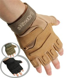 Wholesale Military Tactical Glove - New Motorcycle Half Finger Gloves Military Tactical Airsoft Cycling Knuckle M L XL order<$18no tracking