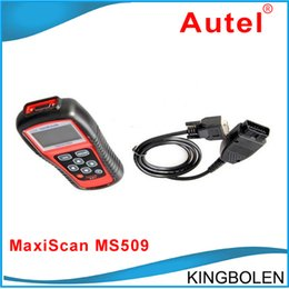 Autel MaxiScan MS509 OBDII / EOBD Auto Code Reader работа для американских азиатских европейских автомобилей MaxiScan MS 509 Бесплатная доставка от Поставщики работа volvo