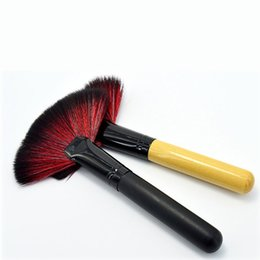 Wholesale Fans Products - Mybasy Fashion new products 1PCS Foundation Cosmetic Makeup Brush Tool Gift Long Or Short Fan Blush Face brush