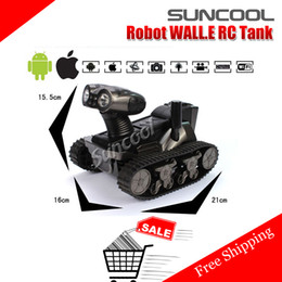 Wholesale Rc Military Vehicles - SUNCOOL Robot WALL.E rc tank HD video Camera wifi Spy Tank for iOS,Android,iphone,Photo,Monitor Eavesdrop,remote control tank TY1109