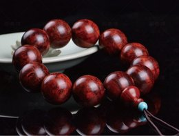 Wholesale Sandal Wood Bracelet - Wood Bracelet Strands Sandal Wood With Scar Diameter 2.0cm 12pcs Beads High Quality 1PCS Lot Free Shipping 130907B6