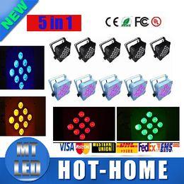 Wholesale Par Can Bulb - X24pcs 9pcs*15W 5in1 RGBAW Battery Power Wireless DMX 512 LED Par Light 7 Channel LED Slim Par Can For Event Disco Party