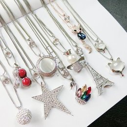 Wholesale Wholesale Hang Sweaters - Newly double sweater chain clothes adorn pendant article jewelry necklace accessorize female simple long style hang necklace decoration