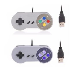 Joypad usb online-Controlador USB clásico Controladores para PC Gamepad Joypad Joystick Reemplazo para Super Nintendo MINI SFC SNES NES Tablet PC LaWindows MAC