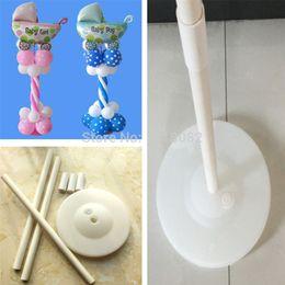 Columnas de suministros de boda online-Acción de gracias 120cm Globo Columna Base Palo Postes de plástico Arco de globos Decoraciones de boda Artículos de fiesta Decoraciones de jardín