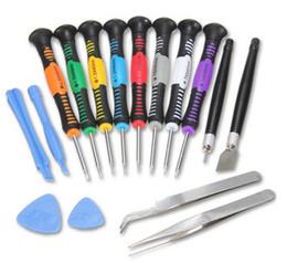 suppression de la colle uv Promotion 16 en 1 Repair Pry Tools Tournevis Set Kit Precision pour Apple iPhone 6 5 4S iPad 4 Samsung