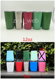 Wholesale Glass Straws Wholesale - Cheapest!!! 9oz & 12oz tumbler wine glasses Vacuum Insulated mug Stainless Steel Lowball with lid with straw 9oz 12oz kid mug cup