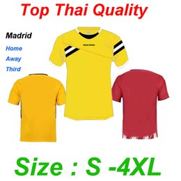 Wholesale Sporting Football Club - Top Thai quality 17 18 Spain Madrid Jerseys football club soccer jersey futbol Sports shirts Home Red away Yellow Third Cyan SIZE S-4XL